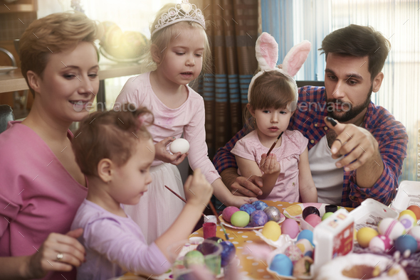 Which egg do we paint now? - Stock Photo - Images