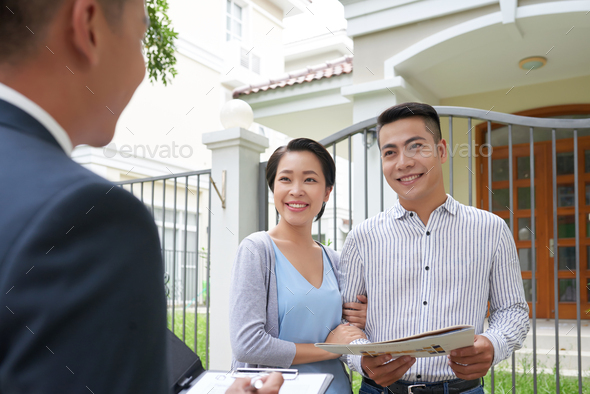 Meeting with estate agent - Stock Photo - Images