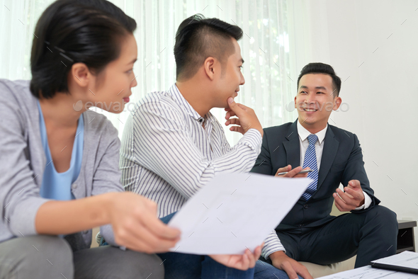 Consultation of estate broker - Stock Photo - Images