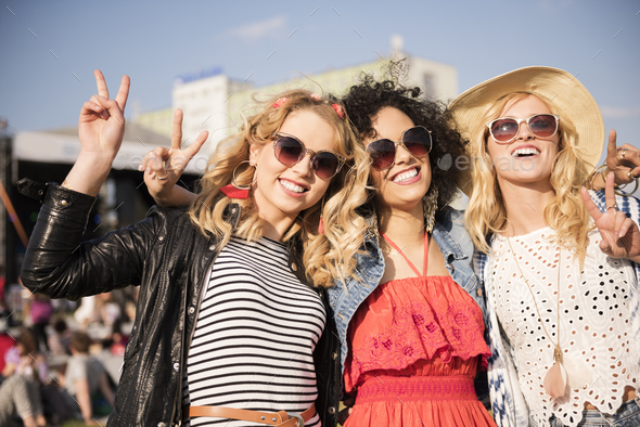 Great time at the concert - Stock Photo - Images