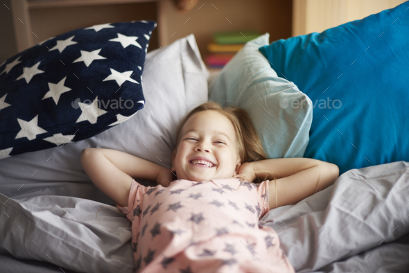 Good morning in the bed - Stock Photo - Images