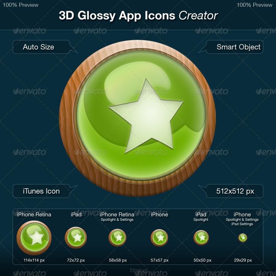 3d Glossy App Icons Creator By Tritonium Graphicriver