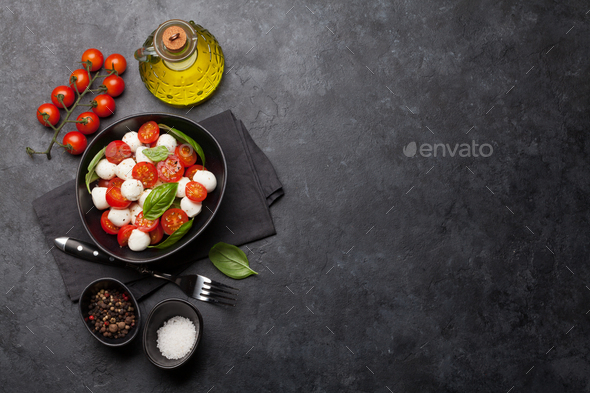 Fresh classic caprese salad - Stock Photo - Images