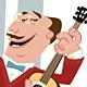 Guitar Music Player, Retro Cartoon Style - GraphicRiver Item for Sale