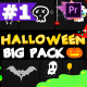 Halloween Party Elements And Titles | Premiere Pro MoGRT - VideoHive Item for Sale