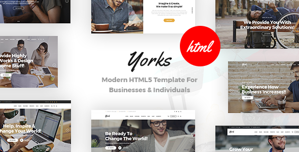 Yorks - Modern HTML5 Template For Businesses & Individuals by 7oroof