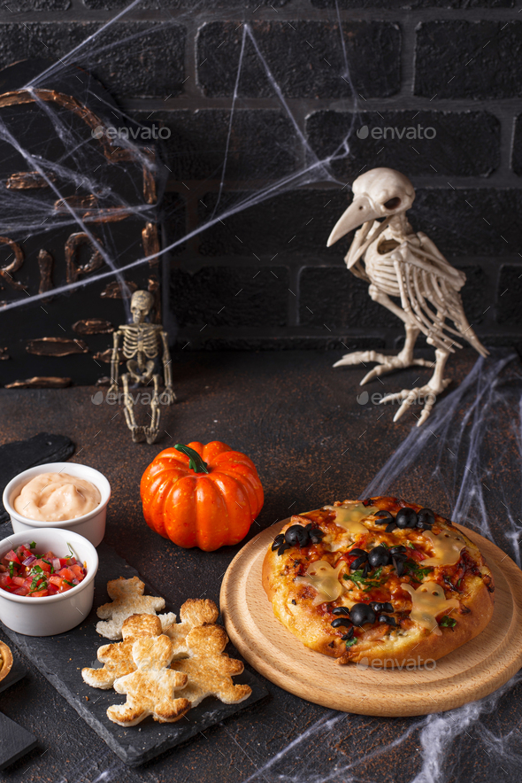 Scary appetizers for Halloween party - Stock Photo - Images