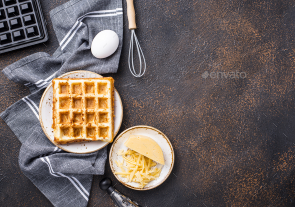 Ingredient for cooking cheese waffle - Stock Photo - Images
