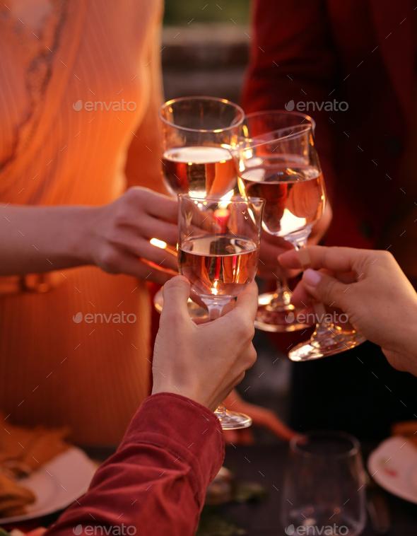 Celebration Alcohol Glasses - Stock Photo - Images