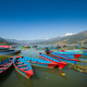 Boats at Fewa Lake, Pokhara - PhotoDune Item for Sale