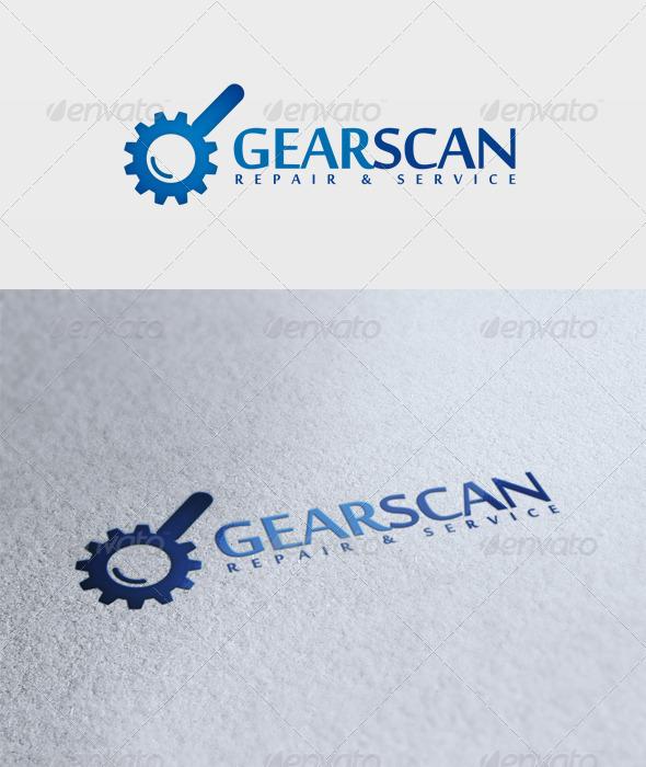 Gear Scan Logo - Symbols Logo Templates