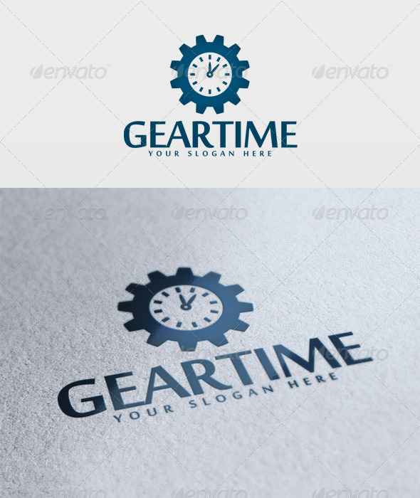 Gear Time Logo - Objects Logo Templates