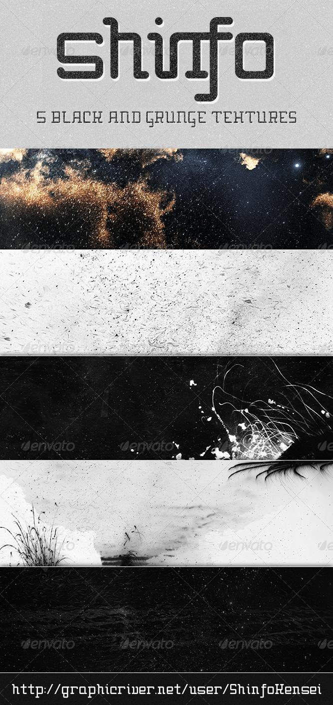 Black Grunge Texture 5 Pack v.2 - Industrial / Grunge Textures