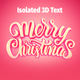 Free Download Merry Christmas Isolated 3D Text. Nulled
