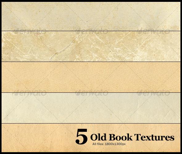 5 Old Book Textures - Paper Textures