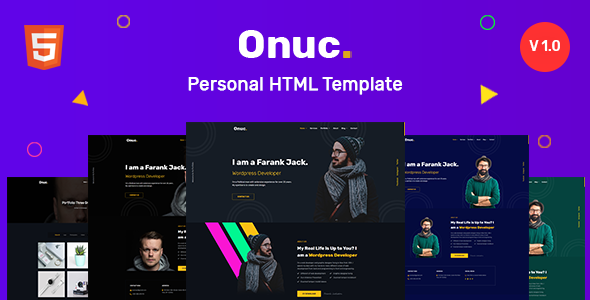 Onuc - Personal HTML Template by WPequal