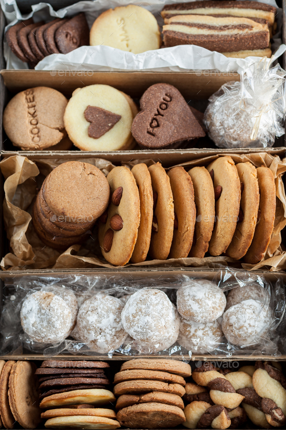 Butter cookies specially prepared for Christmas - Stock Photo - Images