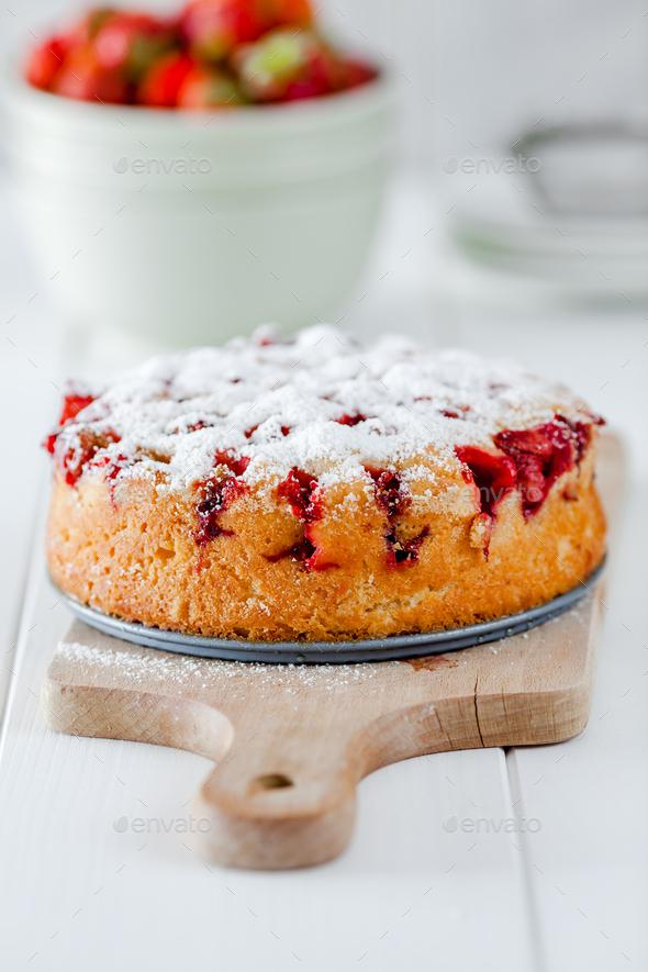 Strawberry cake - Stock Photo - Images