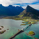 Fredvang Bridges Panorama Lofoten islands - PhotoDune Item for Sale