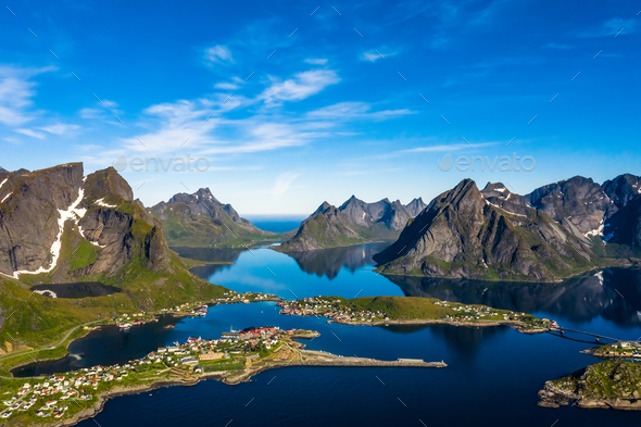Lofoten is an archipelago in the county of Nordland, Norway. - Stock Photo - Images