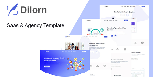 Dilorn - Startup & Agency HTML Template by Rocks_theme