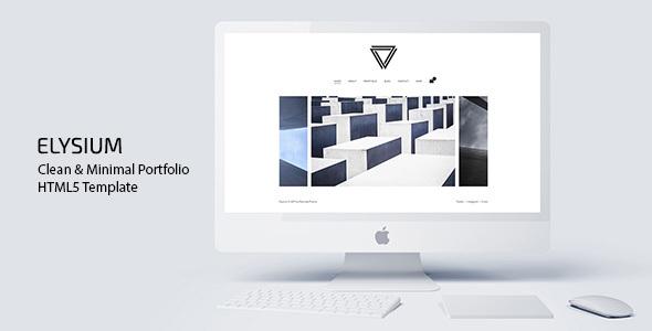 Elysium - Clean & Minimal Portfolio HTML5 Template by MountainTheme