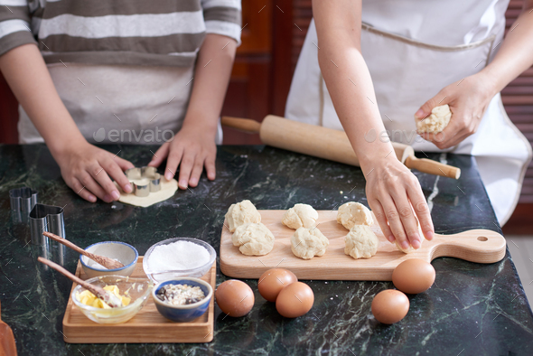 Women Shaping Cookies - Stock Photo - Images