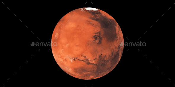 Mars red planet in space - Stock Photo - Images