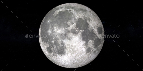Moon full and new in outer space - Stock Photo - Images
