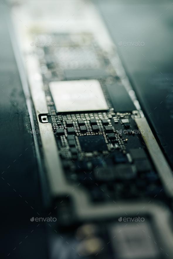 Modern smartphone logic board - Stock Photo - Images