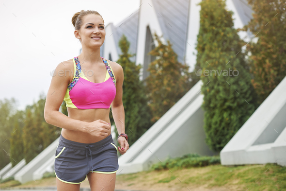 There are many places to discover while jogging - Stock Photo - Images