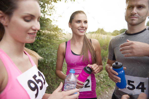 Watering is very important while doing sport - Stock Photo - Images