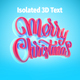 Free Download Merry Christmas Isolated 3D Text Nulled