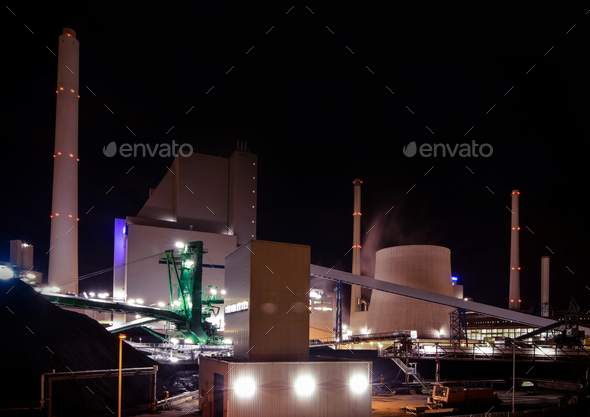 Coal powered electricity plant - Stock Photo - Images