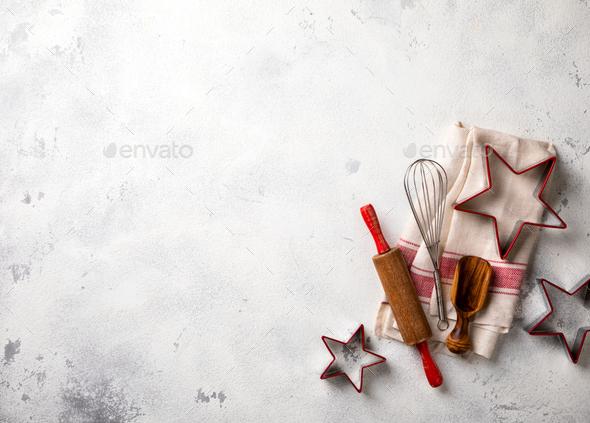 Merry Christmas.Baking Background. - Stock Photo - Images