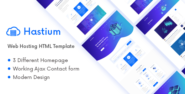 Hastium - Web Hosting and Technology HTML5 Template by wpoceans