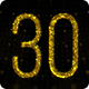 Golden Countdown 30 Seconds and 10 Seconds - VideoHive Item for Sale