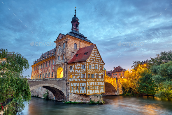 The famous Old Town Hall of Bamberg - Stock Photo - Images