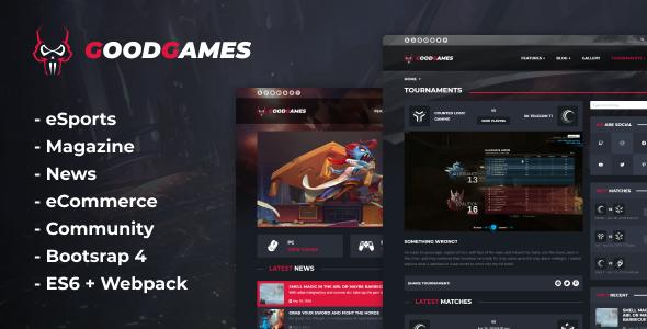 Good Games - eSports & Magazine Gaming Template