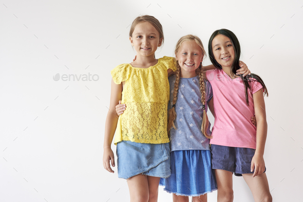 School and powerful friendship lasts forever - Stock Photo - Images