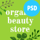 Free Download Organic Beauty | Beauty Store & Natural Cosmetics PSD Template Nulled