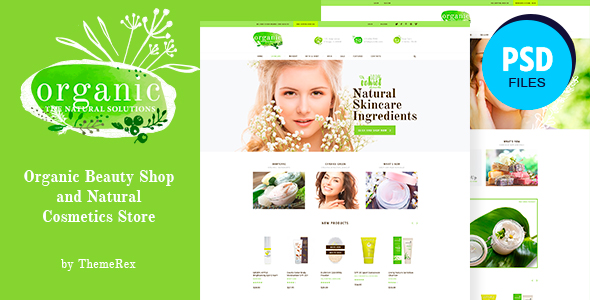 Organic Beauty | Beauty Store & Natural Cosmetics PSD Template