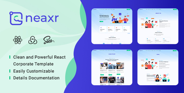 Neaxr - React Business Agency Template