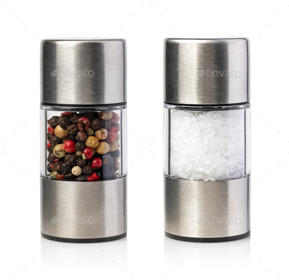 salt and pepper grinders - Stock Photo - Images