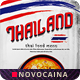 Free Download Thai Cuisine Bifold A4 & US Letter Food Menu Nulled