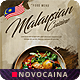Free Download Malaysian Cuisine A4 & US Letter Bifold Menu Nulled