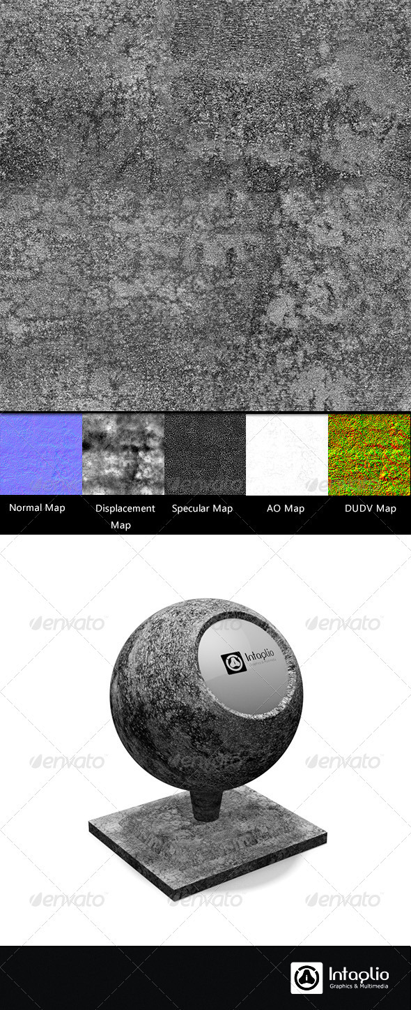 Cement Wall Tileable Seamless Texture - 01 - 3DOcean Item for Sale