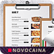 Free Download Italian Cuisine Single Page A4 & US Letter Food Menu Nulled