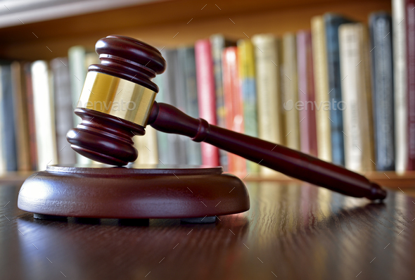 Gavel, symbol of judicial decisions and justice - Stock Photo - Images