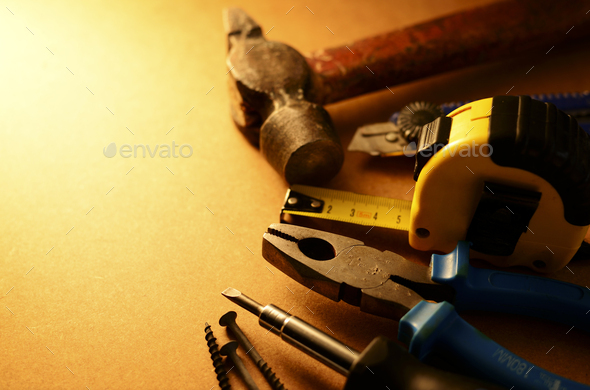 Set of tools with copyspace - Stock Photo - Images